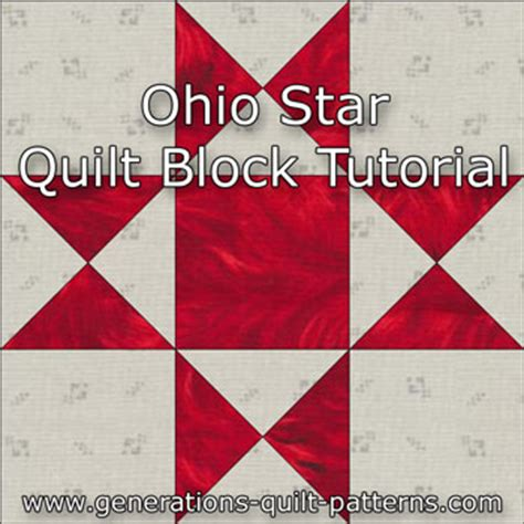 free pattern ohio star quilt block ohio star quilt block illustrated step by step
