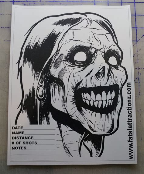 printable zombie gun targets shooting targets 5 pack zombie head airsoft bb apocalypse