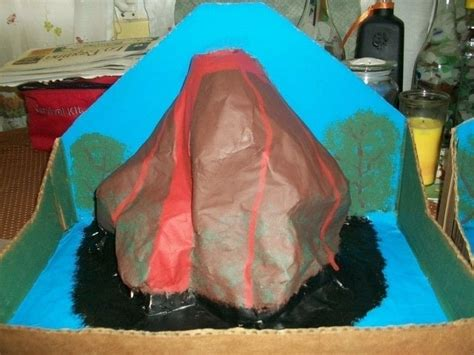 How To Make A Paper Mache Model - paper mache volcanoes 183 a papier mache model 183 papier