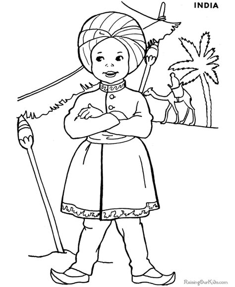 children of the world coloring pages for kids sketch