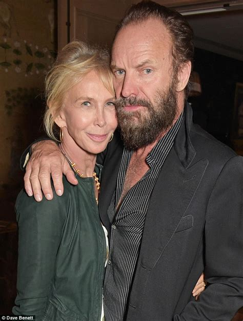 Toe Curling Sting Trudies by Sting Displays Beard With Trudie Styler At Event