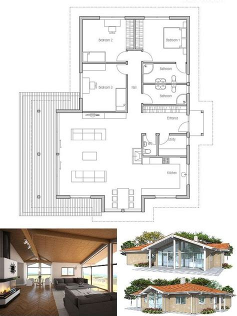 vaulted ceiling house plans small house plan in modern architecture three bedrooms