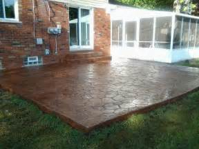 Cement Patio Designs Sted Concrete Patio In Bloomfield Michigan 48302 48301