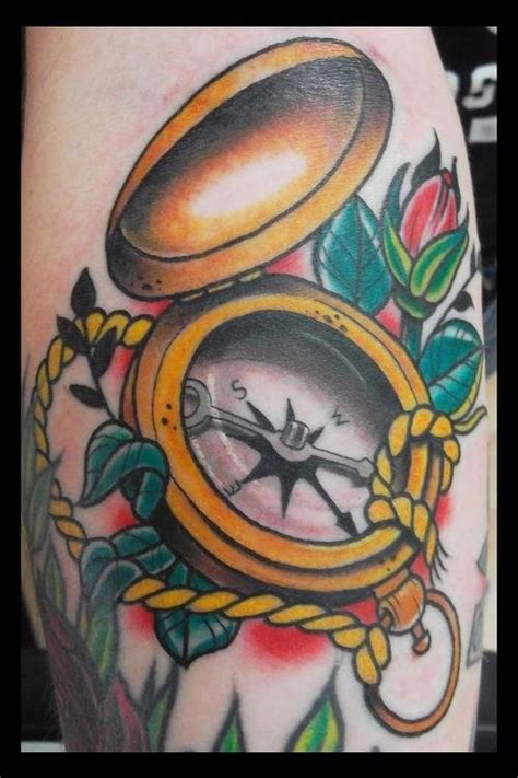 coloured compass tattoo compass tattoos and designs page 51