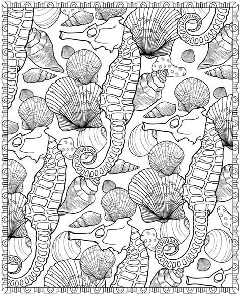 pattern coloring book books seashells patterns sle colouring pages free from