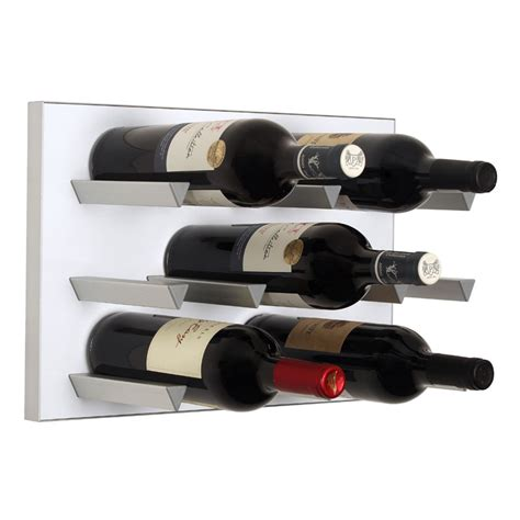 vinowall 12 bottle wall mounted wine rack white the