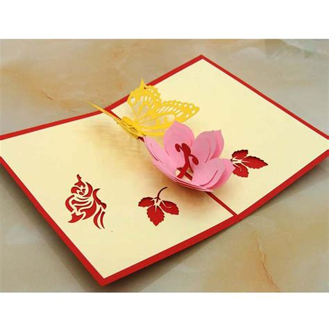 Pop Up Handmade Cards - wedding greeting card handmade 3d pop up lover s