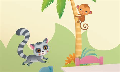 clipart per bambini stickers murali bambini cameretta nella foresta