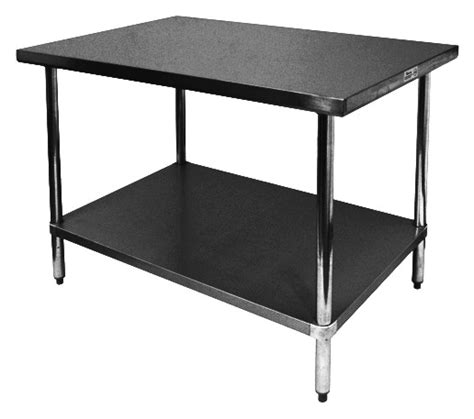 24 x 84 table 24 quot x 84 quot stainless work table with galvanized undershelf