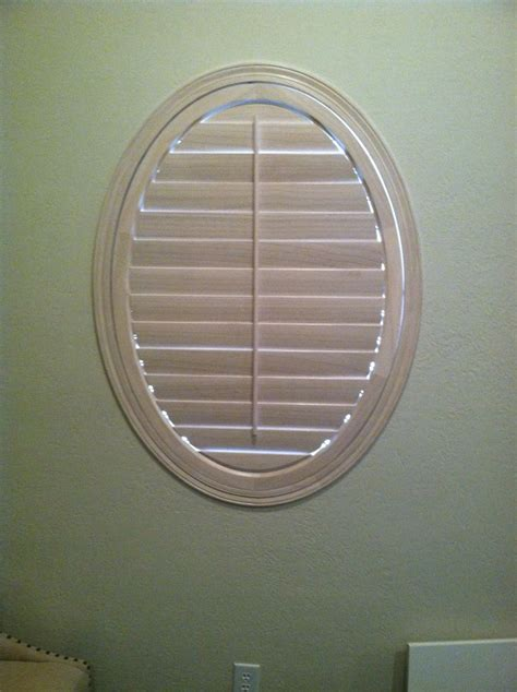 oval window treatments 31 best images about plantation shutters on
