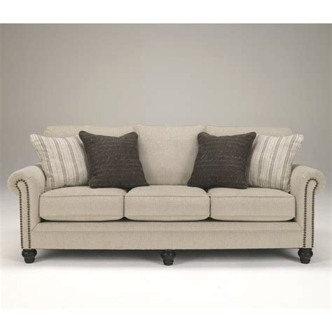linen couch and loveseat signature design by ashley furniture milari microfiber