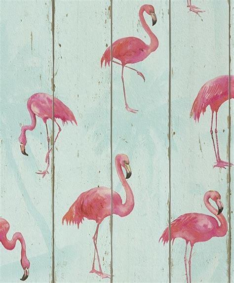 flamingo vans wallpaper flamingo behang vogel dieren romantisch rasch 479706