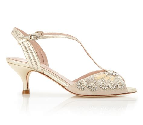 Blush Wedding Shoes Low Heel by Buy The Stylish Ella Gold Bridal Shoes Emmy