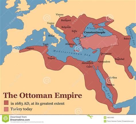 turkish ottoman empire ottoman empire turkey stock vector image 48031996