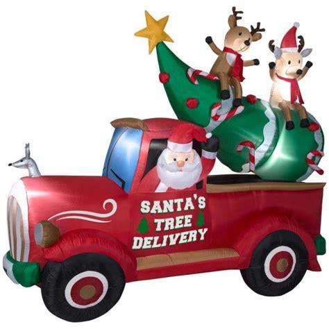 truck santa santa tree delivery truck 2017