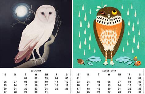 owl calendar template printable 2014 owl calendar freebie how about orange