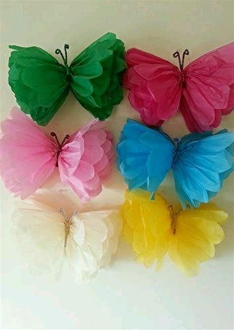 How To Make A Butterfly Out Of Tissue Paper - flores mariposas de papel seda 15cm bs 140 000 00 en