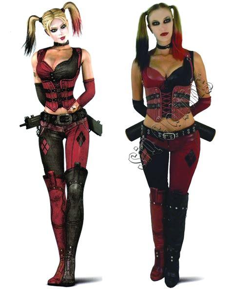 Handmade Harley Quinn Costume - harley quinn arkham city costume by siqclothing on etsy