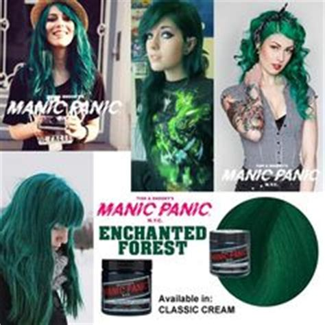 Manic Panic Lified Nyc Hair Colouring Enchanted Forest color on manic panic ash and platinum