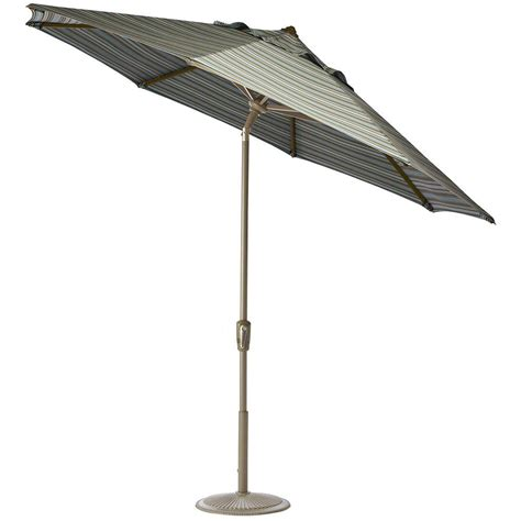 striped patio umbrella home decorators collection 6 ft auto tilt patio umbrella