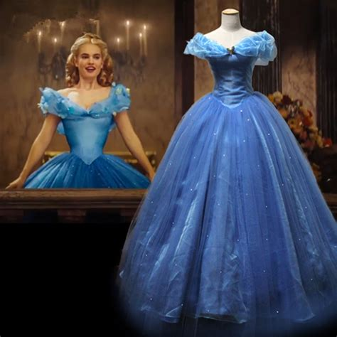 film cinderella dress new movie deluxe cinderella dress cosplay costume party