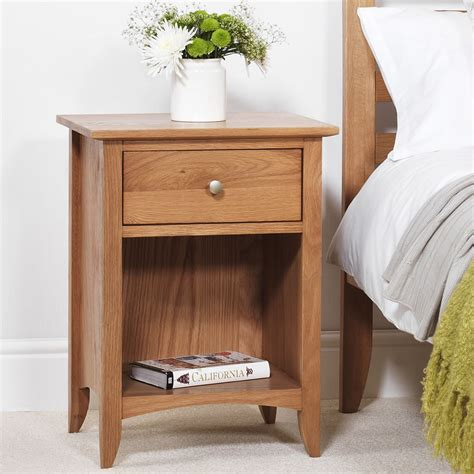 The Bed Table With Drawer by Edward Hopper Oak Bedside Table Bedroom Furniture Direct
