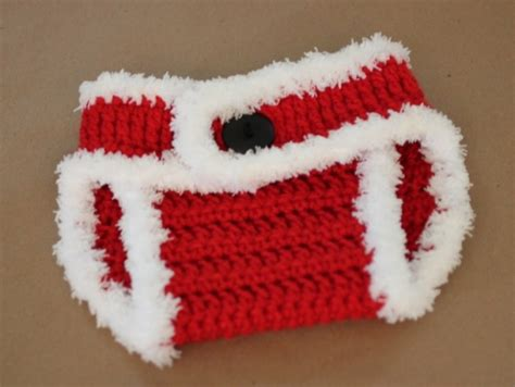 christmas pattern diapers crochet santa hat and diaper cover free patterns listed