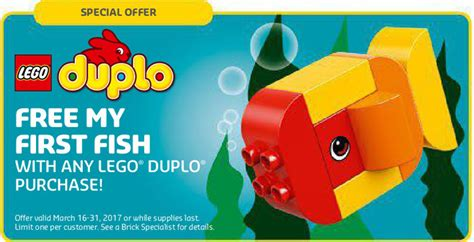 Lego Duplo Polybag My Fish 30323 lego march store calendar now up the brick show