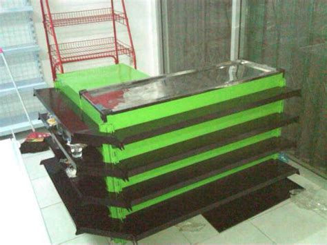 Meja Kasir sell shelving counter desk from indonesia by dunia rak minimarket cheap price