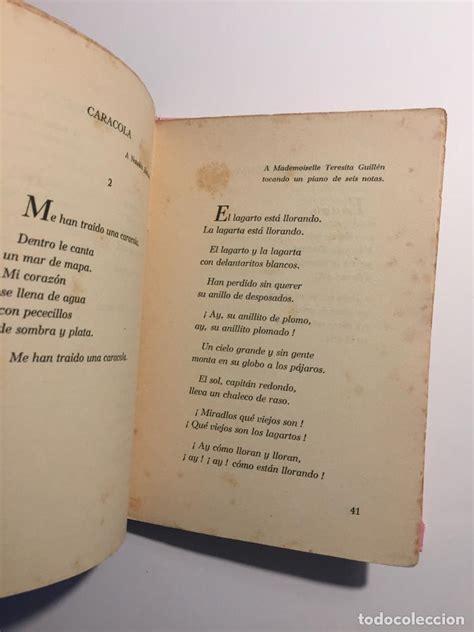 libro canciones 1921 1924 federico garc 237 a lorca canciones 1921 1924 comprar libros antiguos de poes 237 a en