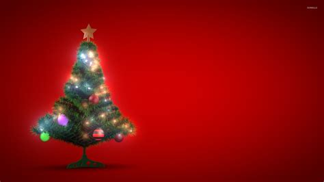 small glowing christmas tree wallpaper holiday