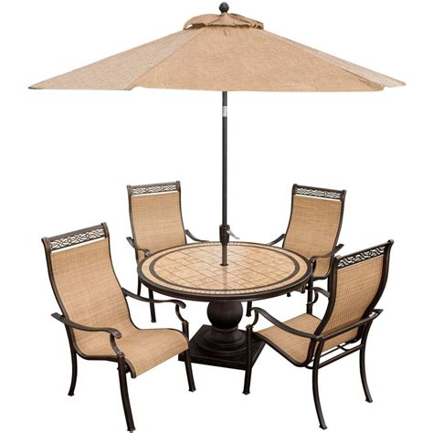 Patio Table Set With Umbrella Monaco Dining Set With Ft Table Umbrella Monacopc Su Patio Seats 4 Breathtaking