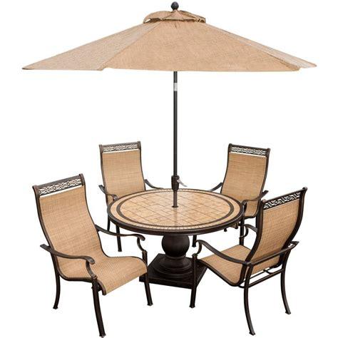 Monaco Piece Dining Set With Ft Table Umbrella Monacopc Su
