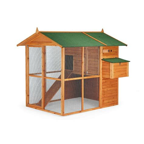 conejeras de madera caseras pollaio in legno mod bruselas 193x177x173cm garden