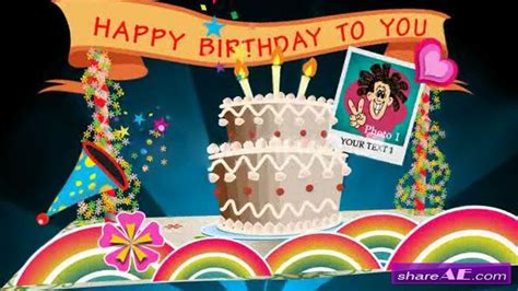 birthday template after effects free download birthday card pop up v1 projects for after effects