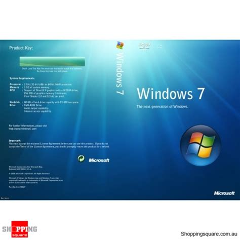 Microsoft Windows 7 Pro microsoft windows 7 pro 64 bit shopping shopping square au bargain