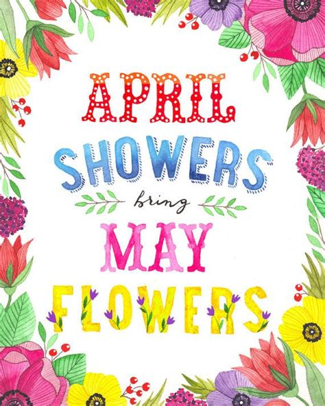April Showers Brings May Flowers by April Showers Bring May Flowers Illustration Vertical