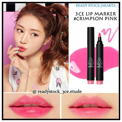 3ce Lip Marker buy 3 concept 3ce lip marker crimson pink indian maroon pink orange pink