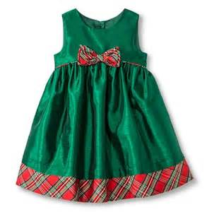 Infant toddler girls sleeveless holiday dress product details page