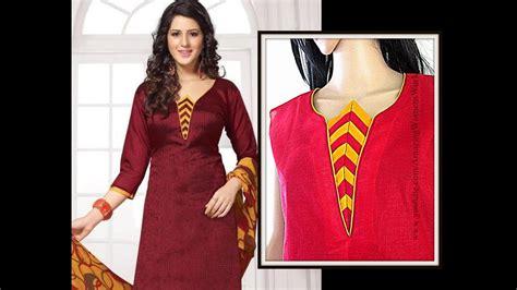 churidar cutting pattern jpg demo diy easy making of applique work neck design cutting and
