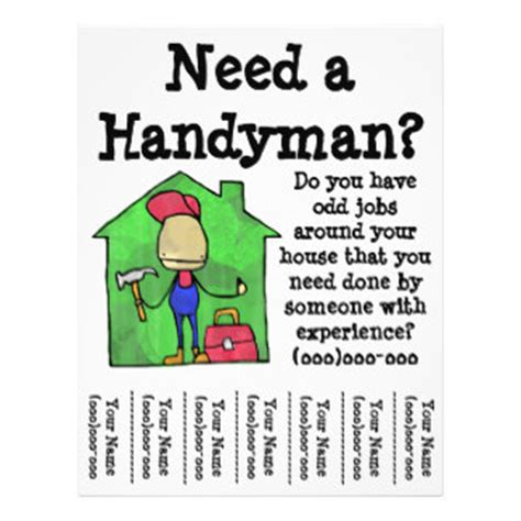 Handyman Flyers Programs Zazzle Handyman Ad Template