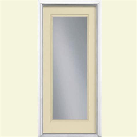 Masonite 32 In X 80 In Full Lite Golden Haystack Right 32 Inch Fiberglass Exterior Door