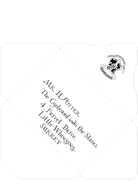 Harry Potter Inspired Addressed And Sealed Envelope Template Print On Parchment Paper Harry Harry Potter Letter Template 2