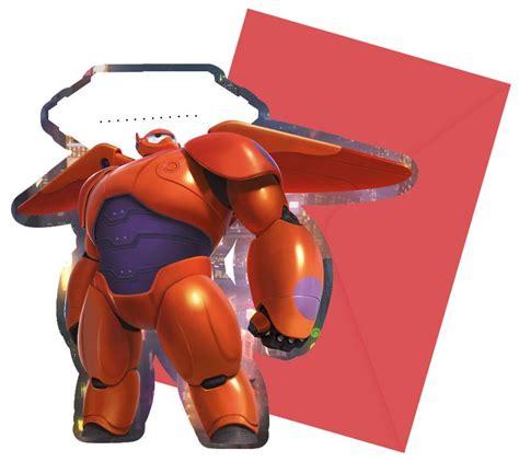 Baymax Motif einladungskarten mit baymax riesiges robowabohu motiv