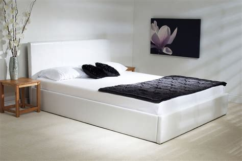 white leather ottoman double bed madrid white faux leather ottoman bed oak furniture