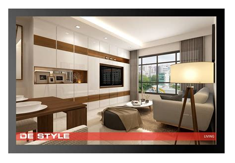 Modern Tv Feature Wall Design by De Style Interior Modern Living Area Cabinet Tv
