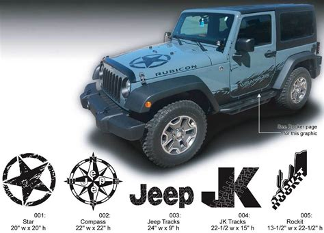 jeep wrangler stickers product jeep decal sticker graphics 07 16 wrangler