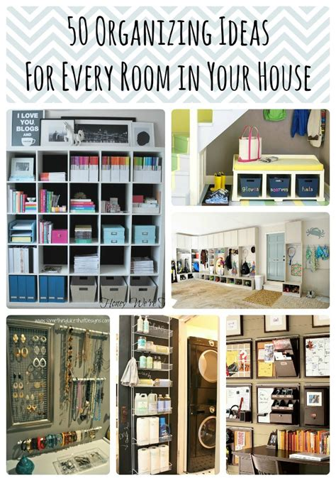 organize organise 50 organizing ideas for every room in your house jamonkey