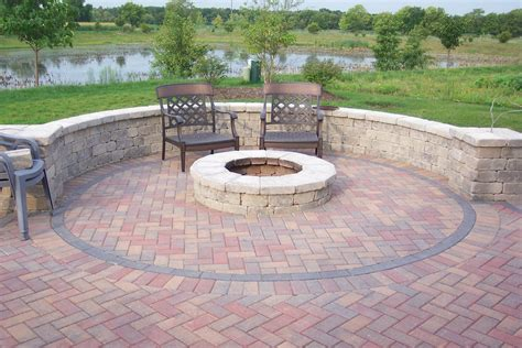 brick patio designs with pit wm homes also built in