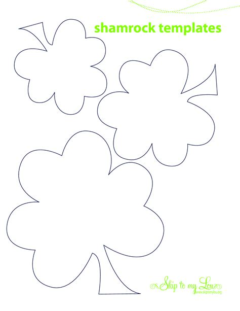 5 best images of printable shamrock cutouts printable shamrock template cutouts shamrock cut